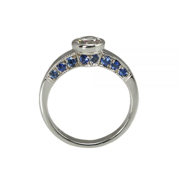 Barbara Diamond Ring Sapphire side