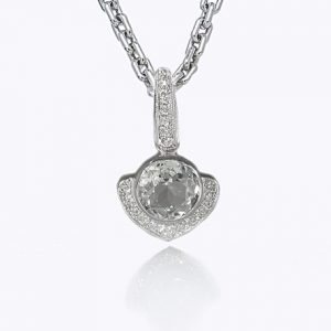 Big Kiss White Topaz Pendant