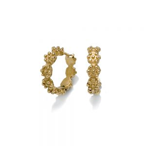 Britt Flower Gold Hoops Small Size