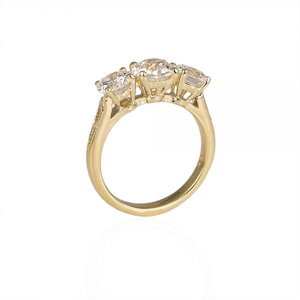 Caroline Engagement Ring by Cynthia Britt Side View