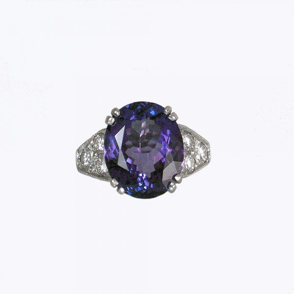 Christina Tanzanite and Diamonds Engagement Ring