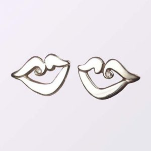 Custom Made Britt Kisses Sterling Silver Earrings