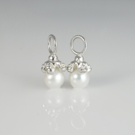 Custom Made Cynthia Britt Sterling Silver Pearl Charms