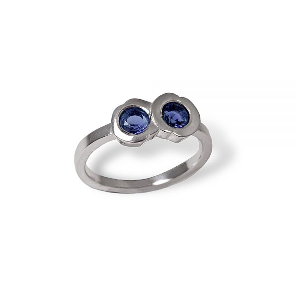 Cynthia Britt Double Kiss Ring in Sterling Silver