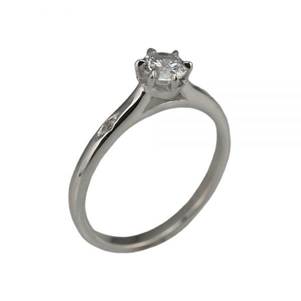 Cynthia Britt Solitaire Diamond Engagement Ring-1450