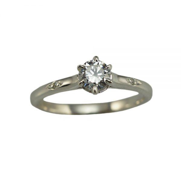 Cynthia Britt Solitaire Diamond Engagement Ring-1451