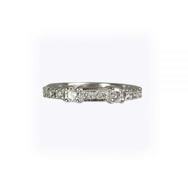 Danielle Wedding Ring side view