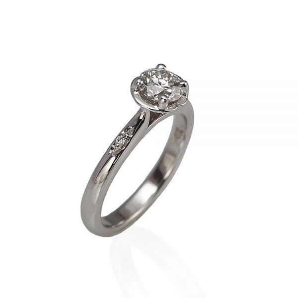 Ella Solitaire Engagement Ring by Cynthia Britt -1448