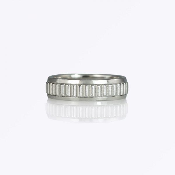George wedding ring by Cynthia Britt is a custom made platinum mens wedding ring