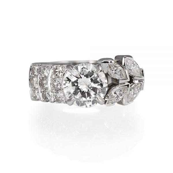 Jenn Va Va Voom Diamond Engagement Ring Top View