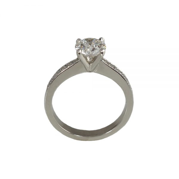 Kate Diamond Band Engagement Ring Side View