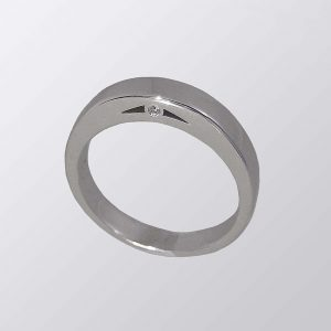 Krystle custom made wedding ring by Cynthia Britt is a 14k white gold and diamond