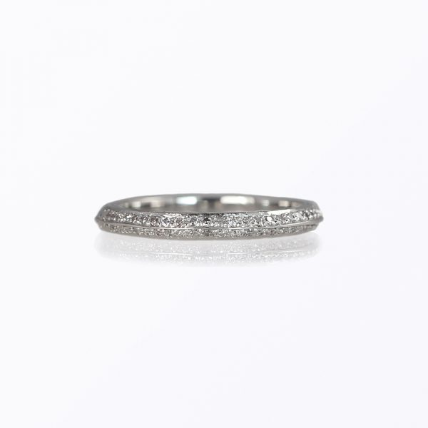 Lori Custom Made Wedding Ring With Engraving