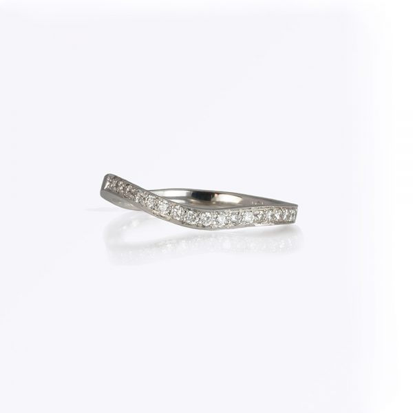 Madeligne custom wedding band by Cynthia Britt is the matching band to Madeligne engagement ring
