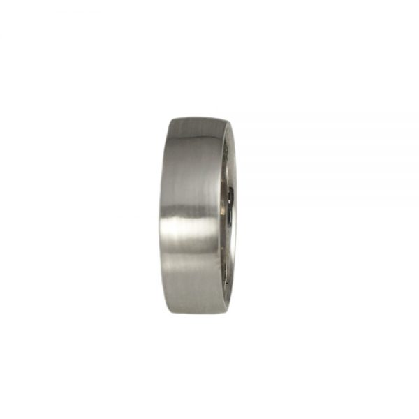 Wylie White Gold Sandblast Wedding Ring-1428