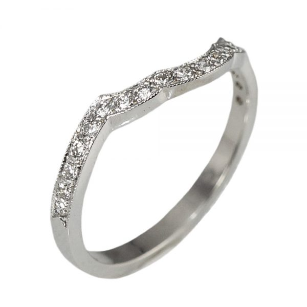 Misha Scalloped Diamond Wedding Band Side View