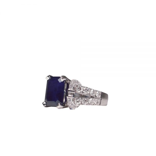 Nina Engagement Ring by Cynthia Britt Side View