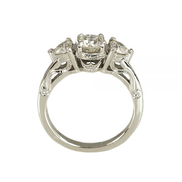 Rachael engagement ring with hand engraving