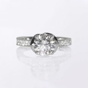 Sophia Flower Solitaire Custom Made