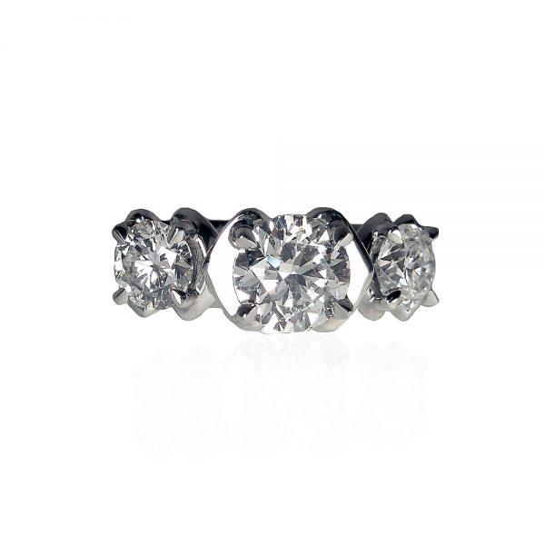 Three Kisses Custom Engagement Ring