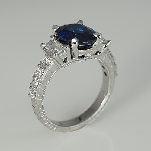 Nicole Engagement Ring, Three Quarter View