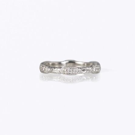 Sophia Wedding Ring Custom Made by Cynthia Britt Boston MA