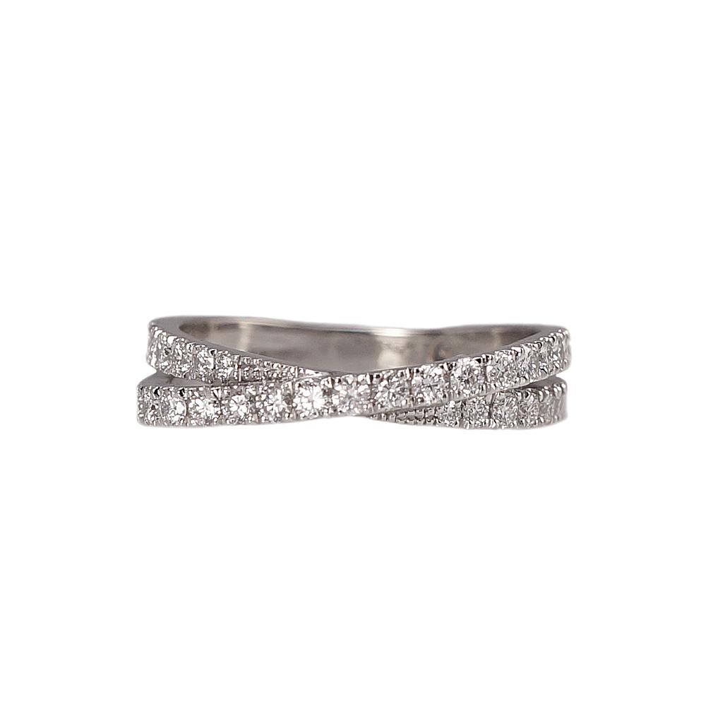 Audra Criss Cross Diamond Wedding Ring Cynthia Britt
