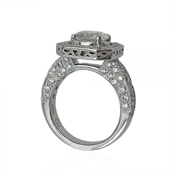 Bianca Engagement Ring by Cynthia Britt Side View