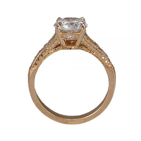 Elizabeth Custom Engagement Ring Side View
