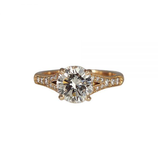 Elizabeth Custom Engagement Ring By Cynthia Britt