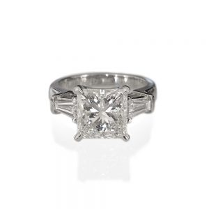Lin Princess Cut Engagement Ring by Cynthia Britt-0
