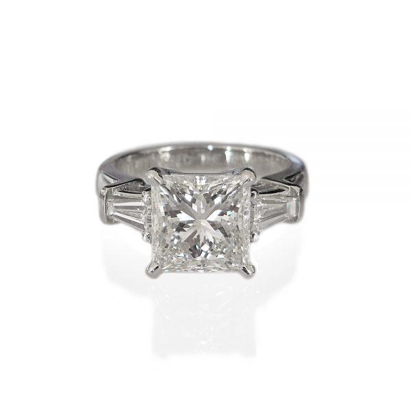 Lin Princess Cut Engagement Ring by Cynthia Britt-0