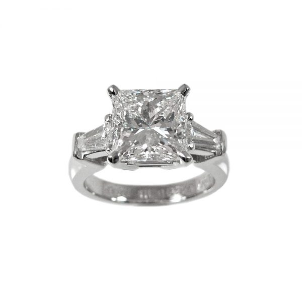 Lin Princess Cut Engagement Ring by Cynthia Britt-1457