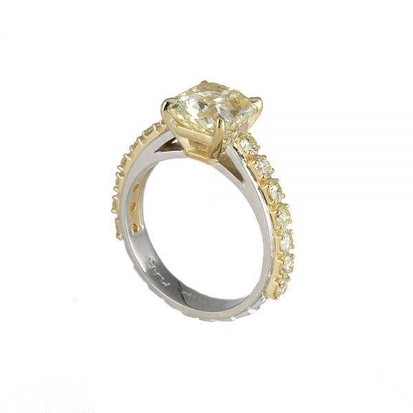 Linda Engagement Ring by Cynthia Britt Side View