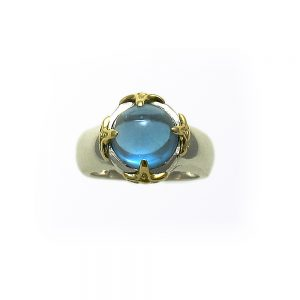 LUV Moods Blue Topaz Cabochon Ring