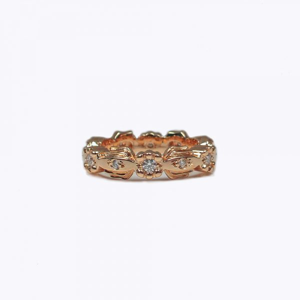 Netie Lotus Custom Made Wedding Band