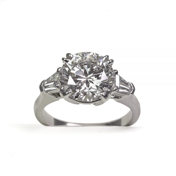Princess Double Prong Engagement Ring 1000x1000