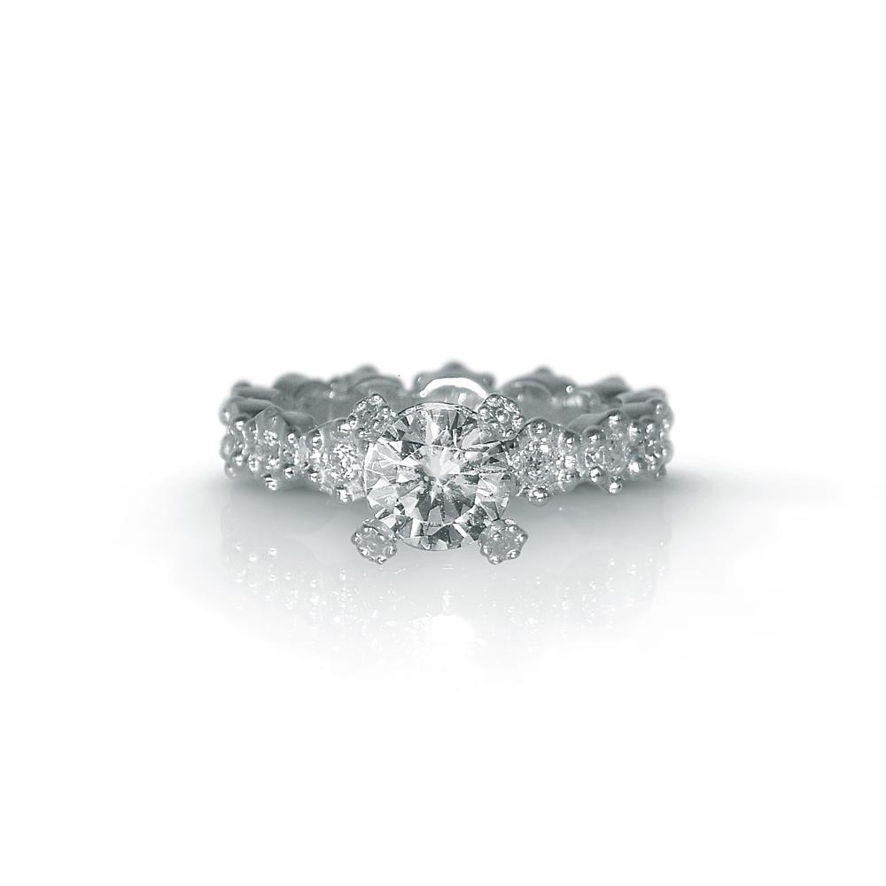 Cynthia Britt White Gold Britt Flower Engagement Ring