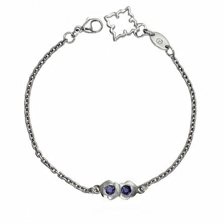 Double Kiss Bracelet by Cynthia Britt in Sterling Silver