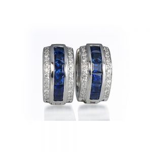 Gigi Sapphire and Diamonds Earrings