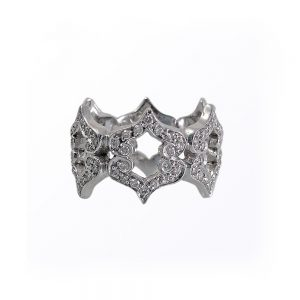Kisses White Gold Diamond Ring