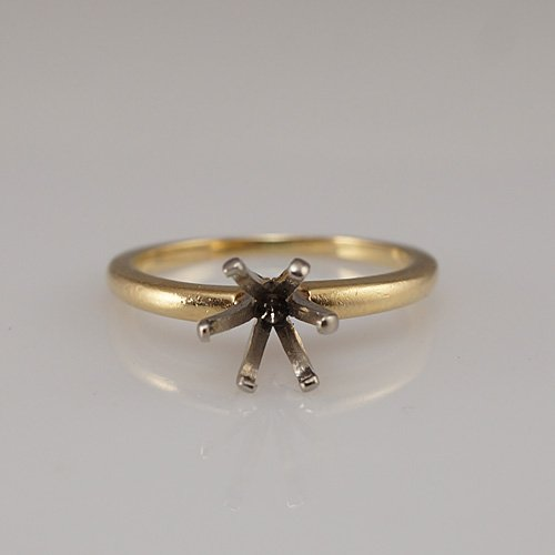 Heirloom Old-European Cut Diamond Ring In Yellow Gold