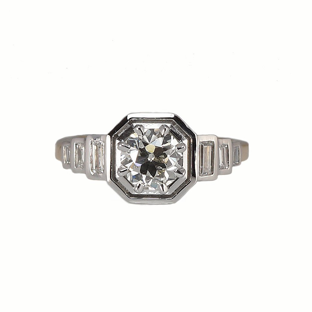 Making Art-Deco Inspired Engagement Ring from Heirloom Diamond