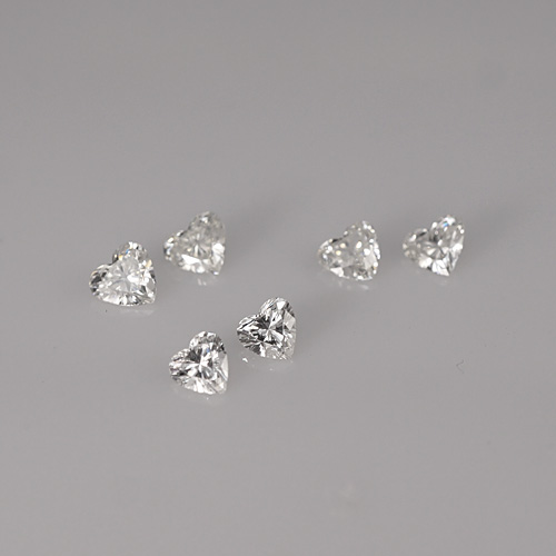 loose heart shape diamonds for custom makeing engagement ring