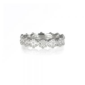 Britt Flower Bead Ring in Sterling Silver