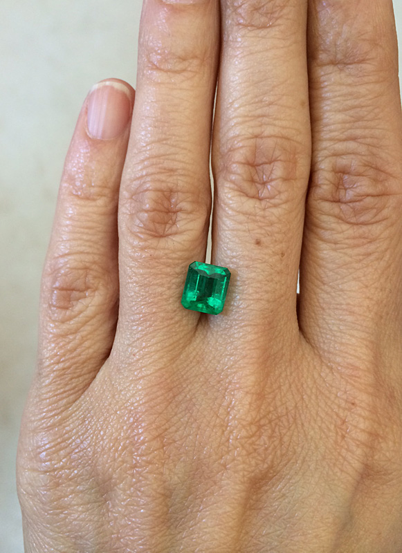 2.0 Carat Loose Colombian Emerald for engagement ring