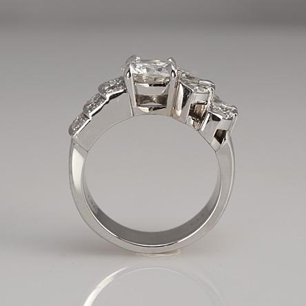 Custom made right hand diamond ring by Cynthia Britt, Boston, MA