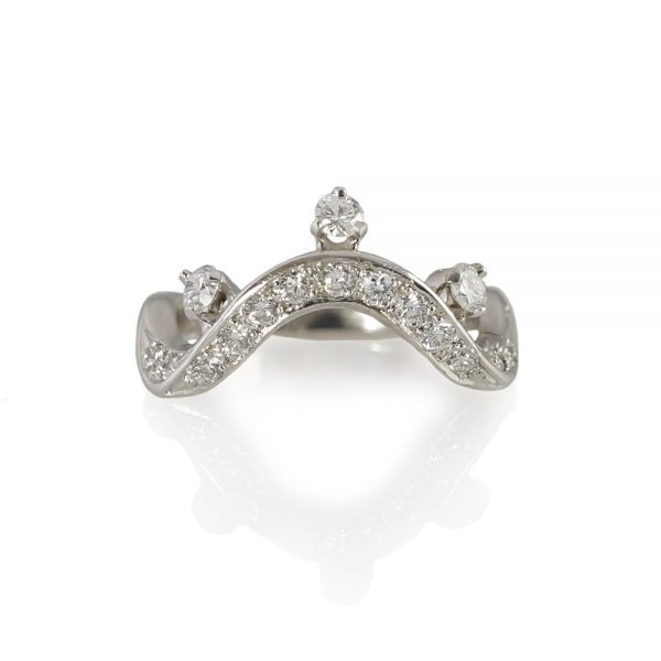 Courtney Diamond Wave and Crown Ring