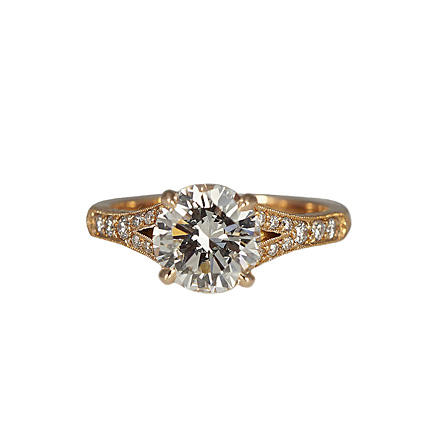 Vintage Inspired Engagement Ring Custom Made
