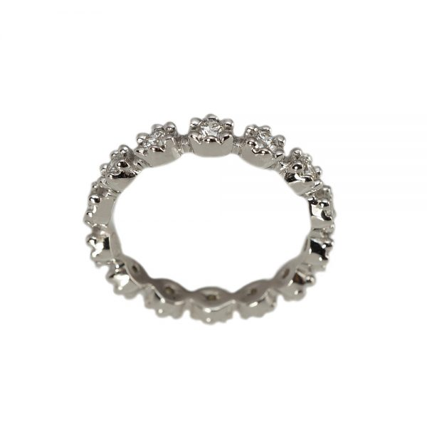 White Gold Britt Flower Eternity Band-1437